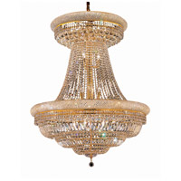 Elegant Lighting Primo 28 Light Foyer in Gold with Elegant Cut Clear Crystal 1803G36SG/EC
