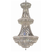 Elegant Lighting Primo 38 Light Foyer in Chrome with Swarovski Strass Clear Crystal 1803G42C/SS