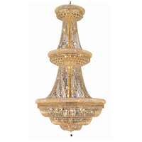 Elegant Lighting Primo 38 Light Foyer in Gold with Swarovski Strass Clear Crystal 1803G42G/SS