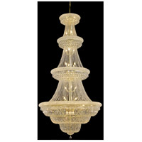 Elegant Lighting Primo 42 Light Foyer in Gold with Swarovski Strass Clear Crystal 1803G48G/SS