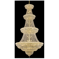 Elegant Lighting Primo 48 Light Foyer in Gold with Swarovski Strass Clear Crystal 1803G54G/SS
