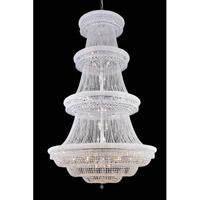 Elegant Lighting 1803G62C/SS Primo 56 Light 62 inch Chrome Foyer Ceiling Light in Swarovski Strass