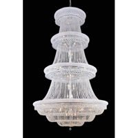 Elegant Lighting Primo 56 Light Foyer in Chrome with Royal Cut Clear Crystal 1803G62C/RC