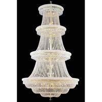 Elegant Lighting 1803G62G/SS Primo 56 Light 62 inch Gold Foyer Ceiling Light in Swarovski Strass