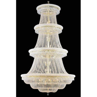 Elegant Lighting Primo 56 Light Foyer in Gold with Swarovski Strass Clear Crystal 1803G62G/SS