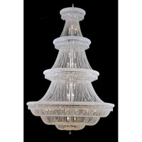 Elegant Lighting Primo 66 Light Foyer in Chrome with Swarovski Strass Clear Crystal 1803G72C/SS