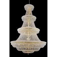 Elegant Lighting 1803G72G/SA Primo 66 Light 72 inch Gold Foyer Ceiling Light in Spectra Swarovski