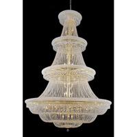 Elegant Lighting Primo 66 Light Foyer in Gold with Swarovski Strass Clear Crystal 1803G72G/SS