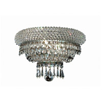 Elegant Lighting Primo 2 Light Wall Sconce in Chrome with Elegant Cut Clear Crystal 1803W12C/EC