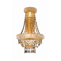 Elegant Lighting Primo 4 Light Wall Sconce in Gold with Royal Cut Clear Crystal 1803W12SG/RC