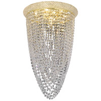 Elegant Lighting Primo 8 Light Flush Mount in Gold with Royal Cut Clear Crystal 1806F16G/RC