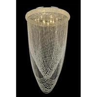 Elegant Lighting Primo 15 Light Flush Mount in Gold with Royal Cut Clear Crystal 1806F28G/RC