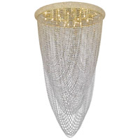 Elegant Lighting Primo 20 Light Flush Mount in Gold with Swarovski Strass Clear Crystal 1806F36G/SS