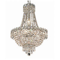 Elegant Lighting V1900D16C/RC Century 8 Light 16 inch Chrome Dining Chandelier Ceiling Light in Royal Cut
