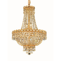 Elegant Lighting Century 8 Light Dining Chandelier in Gold with Elegant Cut Clear Crystal 1900D16G/EC alternative photo thumbnail