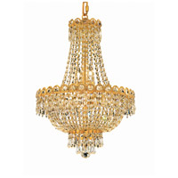 Century 8 Light 16 inch Gold Dining Chandelier Ceiling Light in Royal Cut