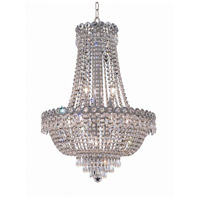 Elegant Lighting Century 12 Light Dining Chandelier in Chrome with Royal Cut Clear Crystal 1900D20C/RC