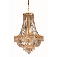Elegant Lighting V1900D20G/EC Century 12 Light 20 inch Gold Dining Chandelier Ceiling Light in Elegant Cut alternative photo thumbnail