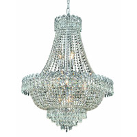 Elegant Lighting Century 12 Light Dining Chandelier in Chrome with Elegant Cut Clear Crystal 1900D24C/EC alternative photo thumbnail