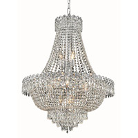 Elegant Lighting V1900D24C/EC Century 12 Light 24 inch Chrome Dining Chandelier Ceiling Light in Elegant Cut alternative photo thumbnail