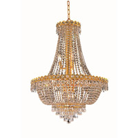 Elegant Lighting V1900D24G/SA Century 12 Light 24 inch Gold Dining Chandelier Ceiling Light in Spectra Swarovski alternative photo thumbnail