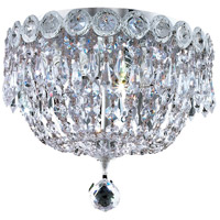 Century 3 Light 10 inch Chrome Flush Mount Ceiling Light in Elegant Cut