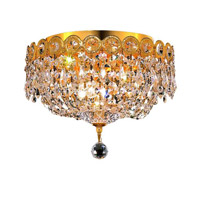 Elegant Lighting Century 3 Light Flush Mount in Gold with Spectra Swarovski Clear Crystal 1900F10G/SA alternative photo thumbnail