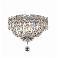 Elegant Lighting Century 4 Light Flush Mount in Chrome with Elegant Cut Clear Crystal 1900F12C/EC
