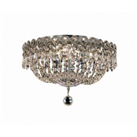 Century 4 Light 14 inch Chrome Flush Mount Ceiling Light in Royal Cut