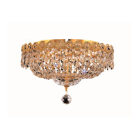 Elegant Lighting Century 4 Light Flush Mount in Gold with Royal Cut Clear Crystal 1900F14G/RC alternative photo thumbnail