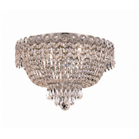 Elegant Lighting Century 4 Light Flush Mount in Chrome with Swarovski Strass Clear Crystal 1900F16C/SS