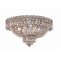 Century 6 Light 18 inch Chrome Flush Mount Ceiling Light in Royal Cut