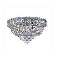 Elegant Lighting Century 9 Light Flush Mount in Chrome with Swarovski Strass Clear Crystal 1900F20C/SS alternative photo thumbnail