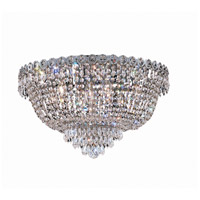 Elegant Lighting Century 9 Light Flush Mount in Chrome with Swarovski Strass Clear Crystal 1900F20C/SS