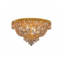 Elegant Lighting V1900F20G/SS Century 9 Light 20 inch Gold Flush Mount Ceiling Light in Swarovski Strass alternative photo thumbnail