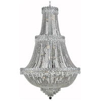 Elegant Lighting Century 17 Light Foyer in Chrome with Elegant Cut Clear Crystal 1900G30C/EC