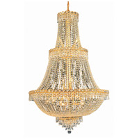 Elegant Lighting Century 17 Light Foyer in Gold with Elegant Cut Clear Crystal 1900G30G/EC