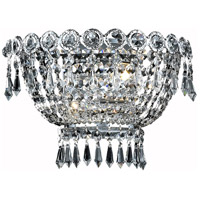 Elegant Lighting Century 2 Light Wall Sconce in Chrome with Spectra Swarovski Clear Crystal 1900W12C/SA