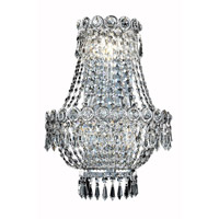 Elegant Lighting 1900W12SC/RC Century 3 Light 12 inch Silver and Clear Mirror Wall Sconce Wall Light in Royal Cut alternative photo thumbnail