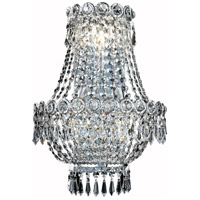 Elegant Lighting Century 3 Light Wall Sconce in Chrome with Elegant Cut Clear Crystal 1900W12SC/EC