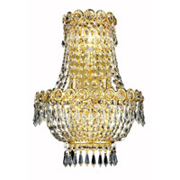 Elegant Lighting Century 3 Light Wall Sconce in Gold with Swarovski Strass Clear Crystal 1900W12SG/SS alternative photo thumbnail