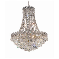 Elegant Lighting Century 8 Light Dining Chandelier in Chrome with Elegant Cut Clear Crystal 1901D16C/EC
