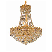 Elegant Lighting Century 8 Light Dining Chandelier in Gold with Elegant Cut Clear Crystal 1901D16G/EC