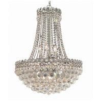 Elegant Lighting Century 12 Light Dining Chandelier in Chrome with Elegant Cut Clear Crystal 1901D20C/EC