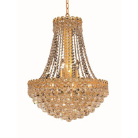 Elegant Lighting Century 12 Light Dining Chandelier in Gold with Elegant Cut Clear Crystal 1901D20G/EC alternative photo thumbnail