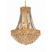 Elegant Lighting Century 12 Light Dining Chandelier in Gold with Swarovski Strass Clear Crystal 1901D20G/SS