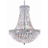 Elegant Lighting Century 12 Light Dining Chandelier in Chrome with Elegant Cut Clear Crystal 1901D24C/EC