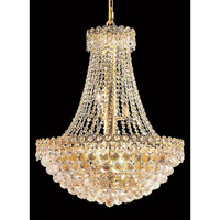 Elegant Lighting Century 12 Light Dining Chandelier in Gold with Elegant Cut Clear Crystal 1901D24G/EC alternative photo thumbnail
