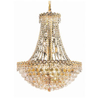 Elegant Lighting Century 12 Light Dining Chandelier in Gold with Elegant Cut Clear Crystal 1901D24G/EC