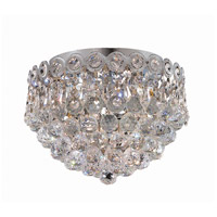 Century 3 Light 10 inch Chrome Flush Mount Ceiling Light in Swarovski Strass